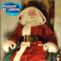 Father Christmas comes to Museum of London Docklands