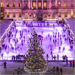 Christmas Ice Skating London.Somerset House Ice Rink In Ice Skating London For